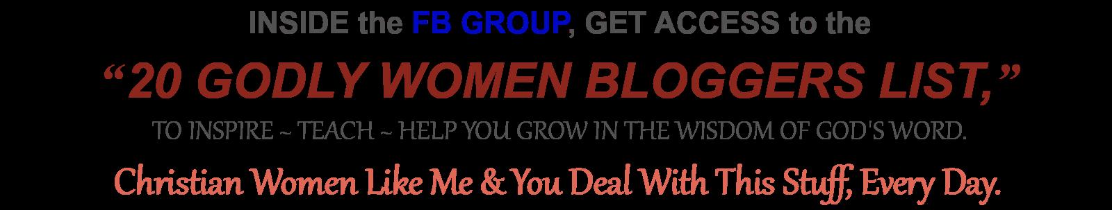 20 GODLY WOMEN BLOGGERS LIST