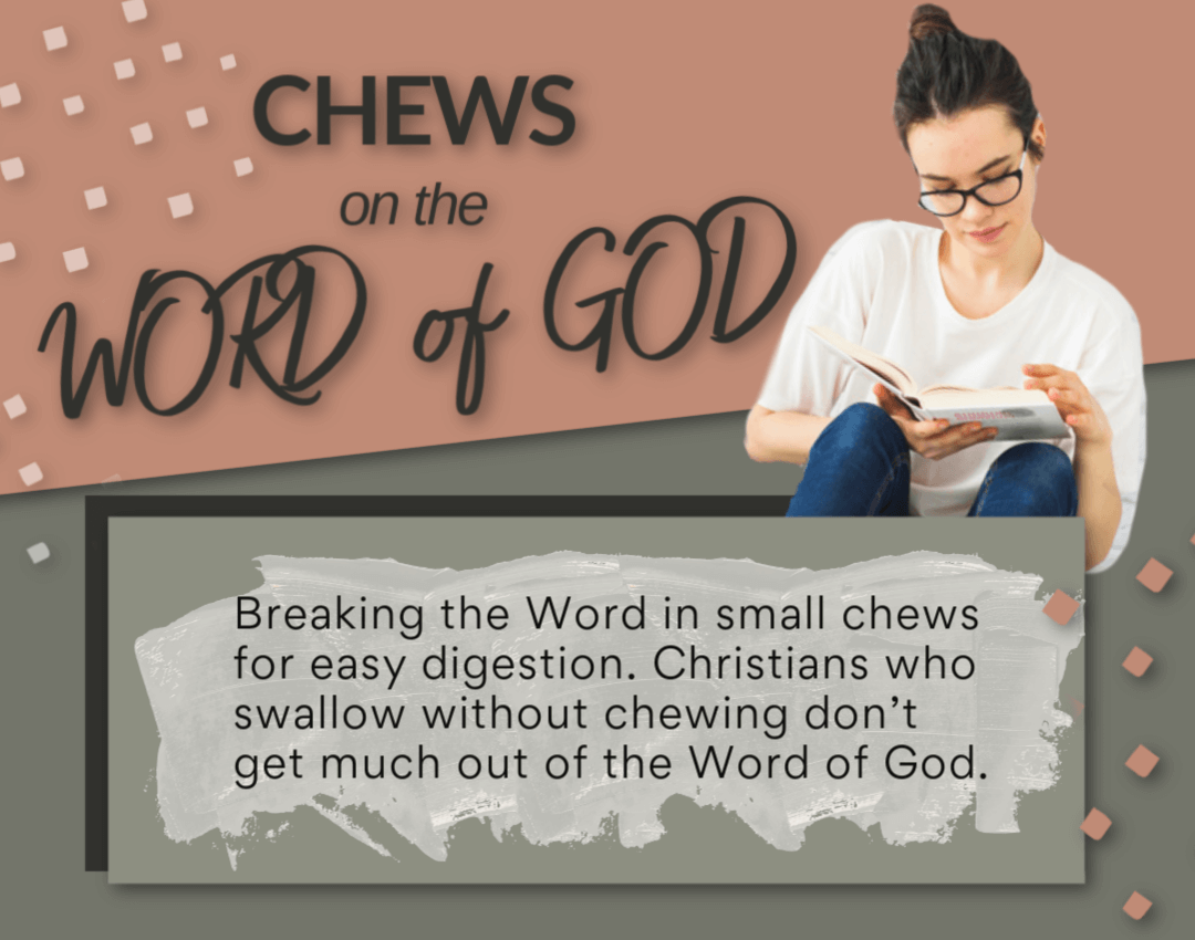 Chews on the Word of God